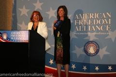 Karen Siegemund and Friend of AFA Gigi Becker
